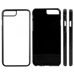 Cover in Silicone  I-Phone 8 con inserto in alluminio sublimatico
