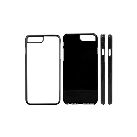 Cover in Silicone  I-Phone 8 Plus con inserto in alluminio sublimatico
