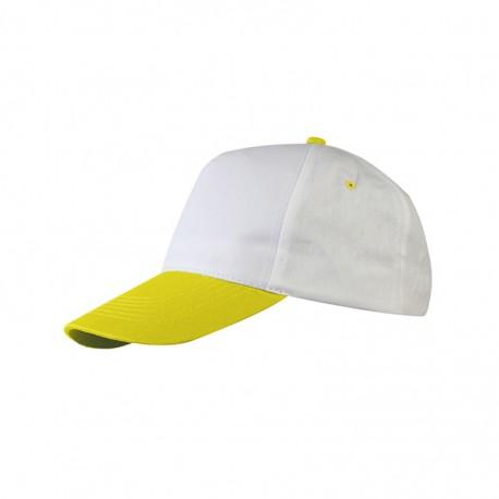 Cappellino Bianco/Giallo