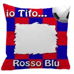 Federa CUSCINO SPORT 40x40 cm. Rosso - Blu