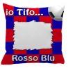 Federa SPORT Rosso - Blu Full Print 40x40 cm. Poliestere 100%