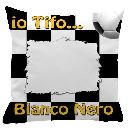 Federa SPORT Bianco - Nero Full Print 40x40 cm. Poliestere 100%