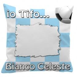 Federa SPORT Bianco - Celeste Full Print 40x40 cm. Poliestere 100%