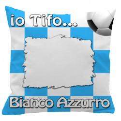 Federa CUSCINO SPORT 40x40 cm. Bianco - Azzurro
