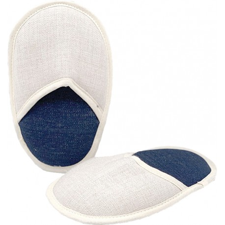 Coppia Pantofola Bambino in Jeans/Tela