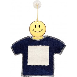 Mini T-Shirt in Jeans/Tela con gruccia Smile