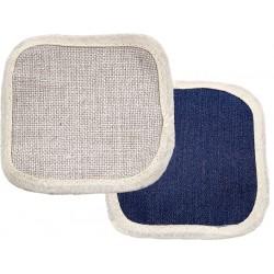 Set 4 Sottobicchieri Quadro Jeans/Tela 10x10 cm.