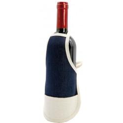 Mini Grembiule Jeans per Bottiglie 22x15 cm.