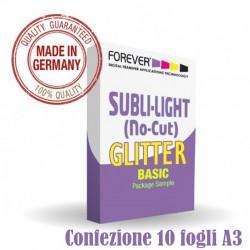 SUBLI LIGTH COTTON GLITTER  A3 ( Conf. 10 Fogli )
