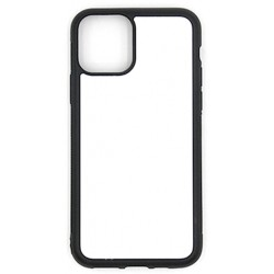 Cover in SILICONE  I-Phone 11 con inserto in alluminio