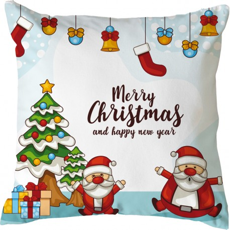 Federe Cuscini Natale.Federa Cuscino Natale 15 Full Print 40x40 Cm Impronta Gadget