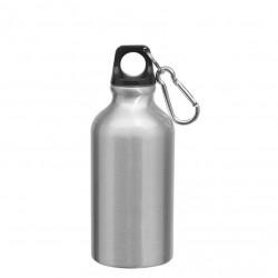 Borraccia con Moschettone in Alluminio 500 ml. H 20 cm. Ø 7,3 cm.