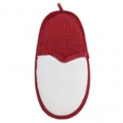 Porta Oggetti Pantofolone Bianco/Rosso h. 48 cm.
