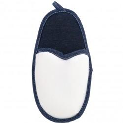 Porta Oggetti Pantofolone Bianco/Jeans h. 48 cm.