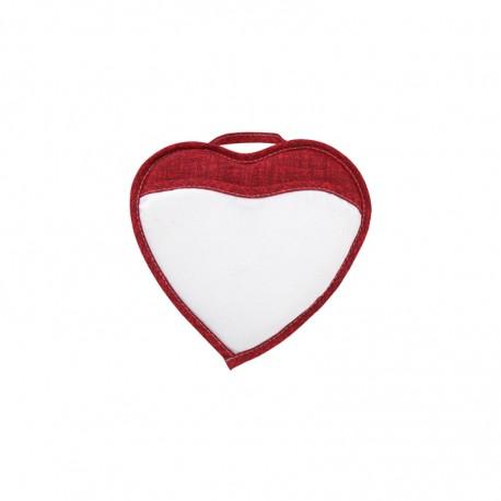Porta Cellulare Cuoricino Bianco/Rosso 18x18 cm.