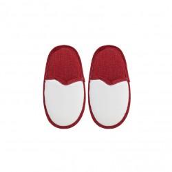 Coppia Pantofole Bianco/Rosso BAMBINO 1/3 ANNI