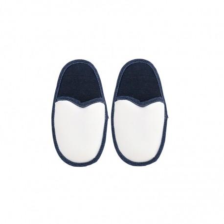 Coppia Pantofole Bianco/Jeans BAMBINO 1/3 ANNI