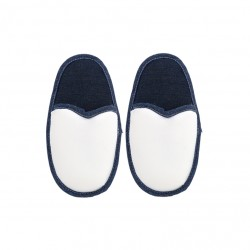Coppia Pantofole Bianco/Jeans BAMBINO 4/6 ANNI