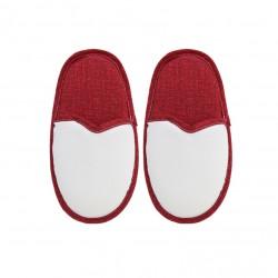 Coppia Pantofole Bianco/Rosso DONNA Taglia 36/40