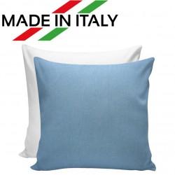 Federa Bicolore Bianco/Azzurro 40x40 cm. Retro FineArt