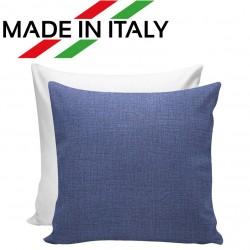 Federa Bicolore Bianco/Blu 40x40 cm. Retro FineArt