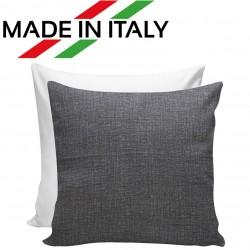 Federa Bicolore Bianco/Grigio 40x40 cm. Retro FineArt