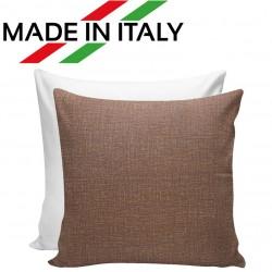 Federa Bicolore Bianco/Marrone 40x40 cm. Retro FineArt