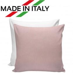 Federa Bicolore Bianco/Rosa 40x40 cm. Retro FineArt