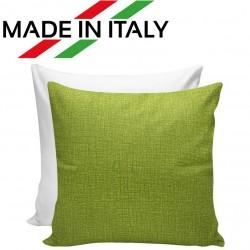 Federa Bicolore Bianco/Verde 40x40 cm. Retro FineArt