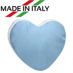 Federa Bicolore CUORE Bianco/Azzurro 40x40 cm. Retro FineArt