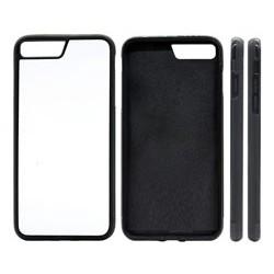 Cover in Silicone  I-Phone 7 con inserto in alluminio sublimatico