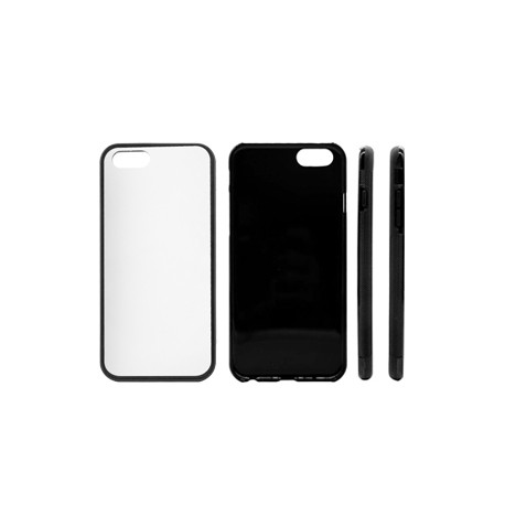 Cover in Silicone  I-Phone 5/5s con inserto in alluminio sublimatico