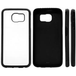 Cover in Silicone Samsung S6 Edge con inserto in alluminio sublimatico