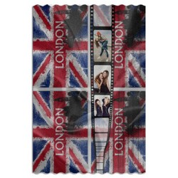 Plaid Poliestere Pail London 100x150 cm.