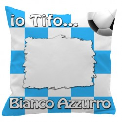 Federa SPORT Bianco - Azzurro Full Print 40x40 cm. Poliestere 100%