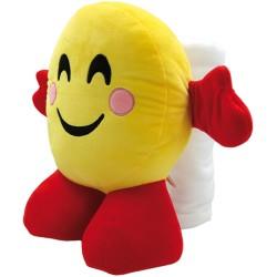Peluche Smile Happy h.40 cm. con Telo Mare 70X140 cm.