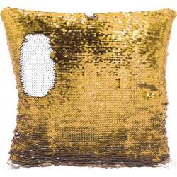 Federa Cuscino Paillettes 40X40 cm. Bianco-Oro
