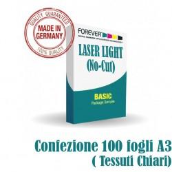 Laser Light No Cut A3 100 fogli (Tessuti Chiari)