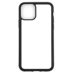 Cover in SILICONE  I-Phone 11 PRO MAX con inserto in alluminio