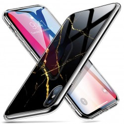 Cover in SILICONE/GLASS  I-Phone X/XS