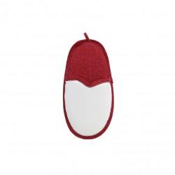 Porta Cellulare Pantofola Bianco/Rosso h. 22 cm. (con ventosina)