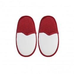 Coppia Pantofole Bianco/Rosso BAMBINO 4/6 ANNI