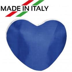 Federa CUSCINO CUORE Bicolore Bianco/Blu 40x40 cm.