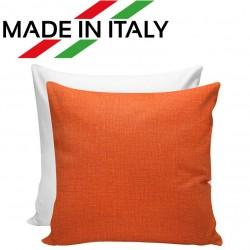 Federa Bicolore Bianco/Arancio 40x40 cm. Retro FineArt