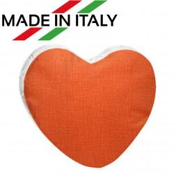Federa Bicolore CUORE Bianco/Arancio 40x40 cm. Retro FineArt
