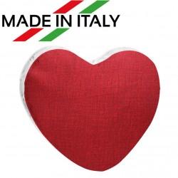 Federa Bicolore CUORE Bianco/Rosso 40x40 cm. Retro FineArt
