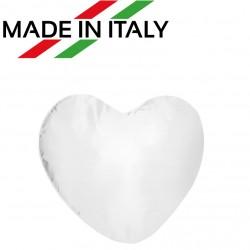Federa MICROFIBRA Bicolore CUORE Bianco/Bianco 40x40 cm. Soft Touch