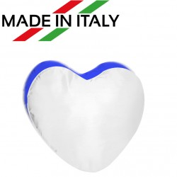 Federa MICROFIBRA Bicolore CUORE Bianco/Blu 40x40 cm. Soft Touch