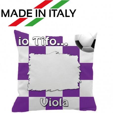 Federa SPORT Bianco - Viola Full Print 40x40 cm. Poliestere 100%