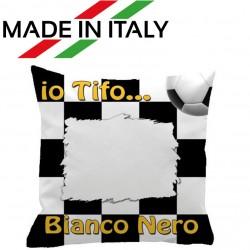 Federa CUSCINO SPORT 40x40 cm. Bianco - Nero